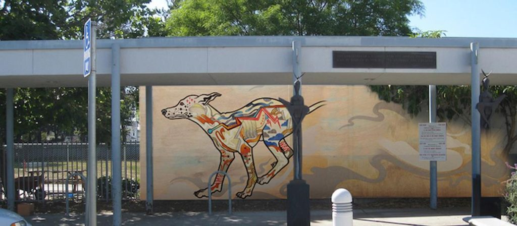 This colorful mural could greet folks in the parking lot of the shelter.