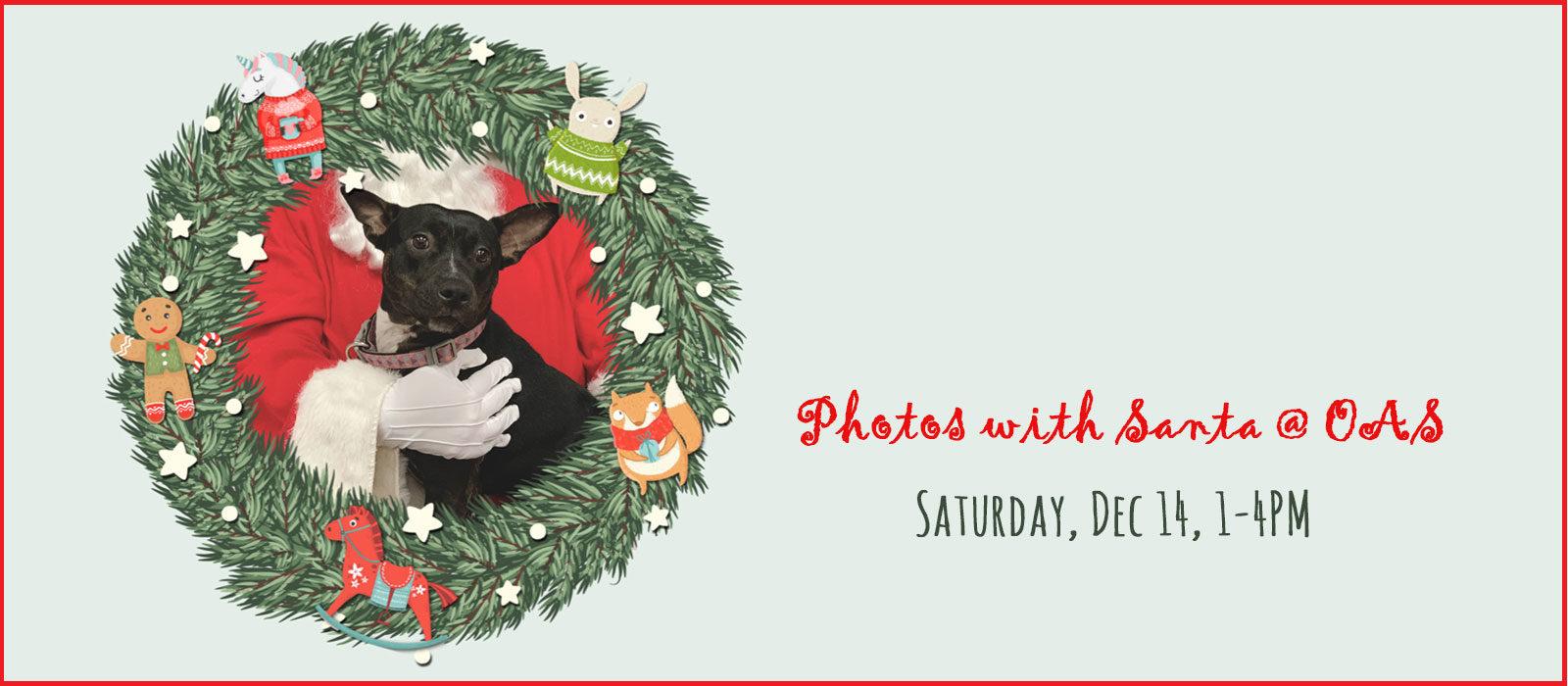 Photos with Santa, support FOAS!