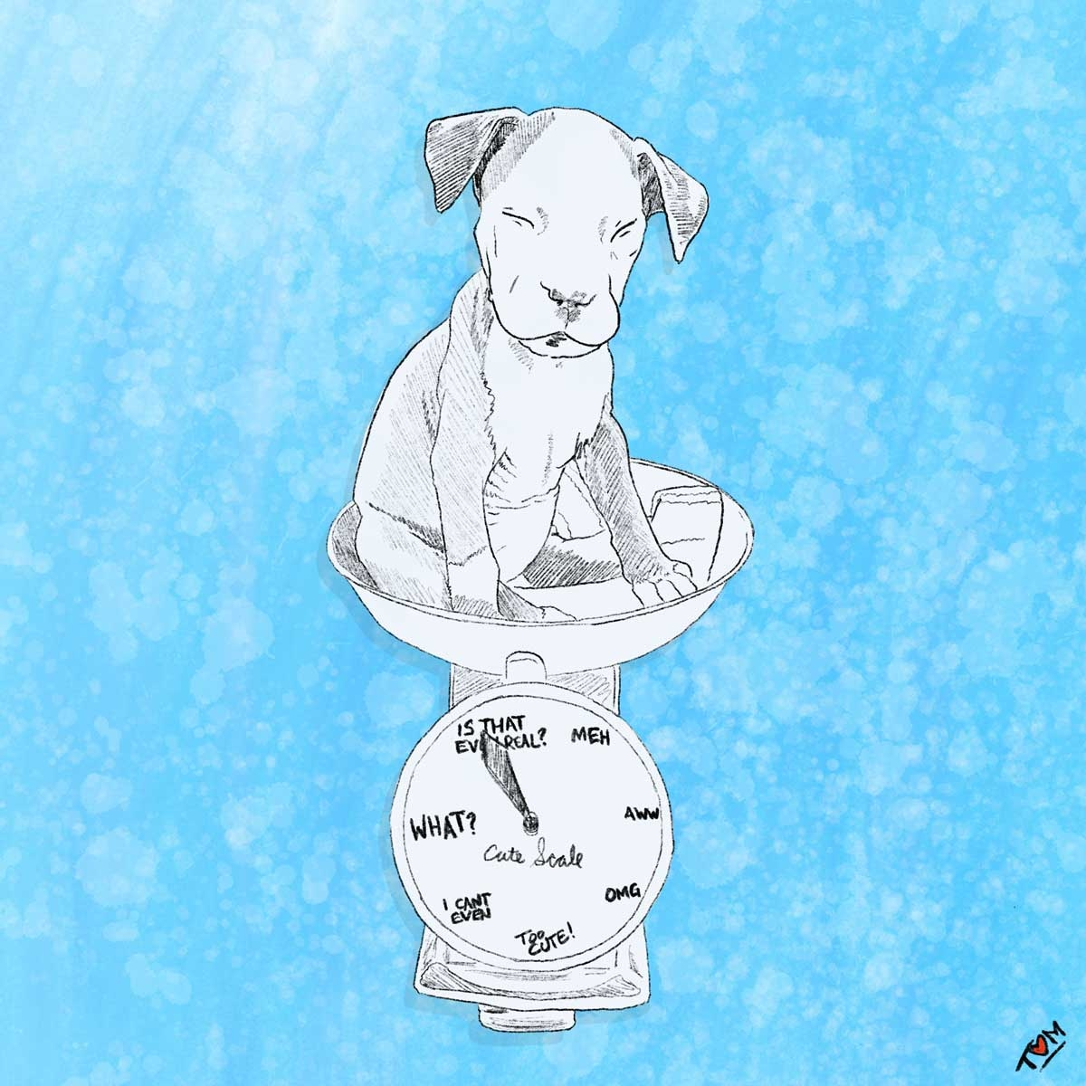 Dog-on-Scale-Art